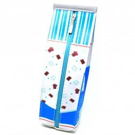 Kotak Pensil Bentuk Kotak Susu - Blue - 2