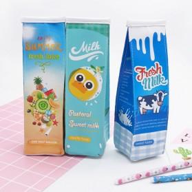 Kotak Pensil Bentuk Kotak Susu - Blue - 7