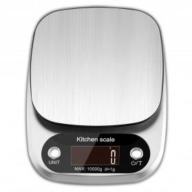 Taffware Digipounds Timbangan Dapur Digital Kitchen Scale 10kg 1g - Z2S - Silver - 2