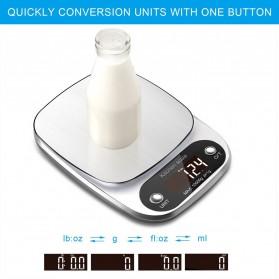 Taffware Digipounds Timbangan Dapur Digital Kitchen Scale 10kg 1g - Z2S - Silver - 4