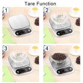 Taffware Digipounds Timbangan Dapur Digital Kitchen Scale 10kg 1g - Z2S - Silver - 6