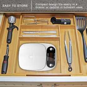 Taffware Digipounds Timbangan Dapur Digital Kitchen Scale 10kg 1g - Z2S - Silver - 8