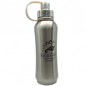 Botol Thermos Stainless Steel 1 Liter - Silver