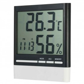 SINOTIMER Jam Alarm LED Weather Station Thermometer - CX-318 - White