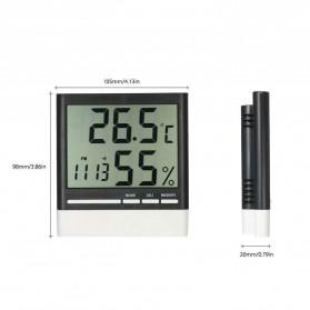 Sinotimer Jam Alarm LED Weather Station Thermometer - CX-318 - White - 2