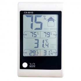 LED Weather Station Digital Thermometer + Hygrometer - CX-601D - White