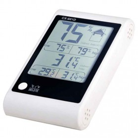 LED Weather Station Digital Thermometer + Hygrometer - CX-601D - White - 2