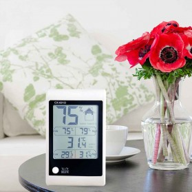 LED Weather Station Digital Thermometer + Hygrometer - CX-601D - White - 10