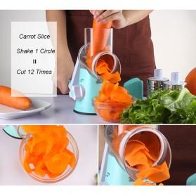 Alat Parut Sayuran Round Blades Slicer - CW83651 - Blue - 3