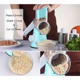 Alat Parut Sayuran Round Blades Slicer - CW83651 - Blue - 4