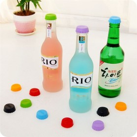 Tutup Botol Bir Silicone 6PCS - Multi-Color