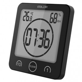 BALDR Jam Digital Countdown Timer Thermometer Hygrometer - Black
