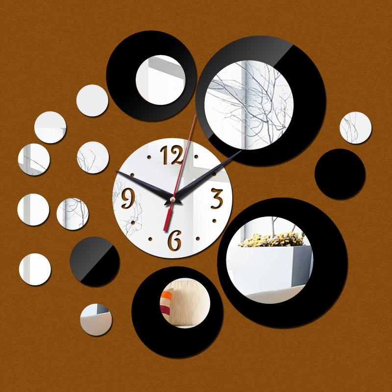 Jam Dinding Acrylic Mirror - SZ004 - Black - JakartaNotebook.com 553bd93815