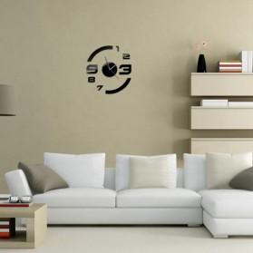 Taffware Jam Dinding DIY Giant Wall Clock Quartz Creative Design Model Acrylic Mirror Big Number - DIY-13 - Black - 6
