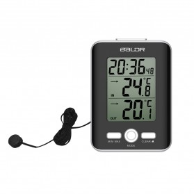 BALDR Jam Alarm LED Thermometer Weather Station with Probe - Black - 2