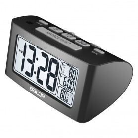 Dekorasi Rumah - BALDR Jam Alarm LED Sleep Timer Thermometer - Black