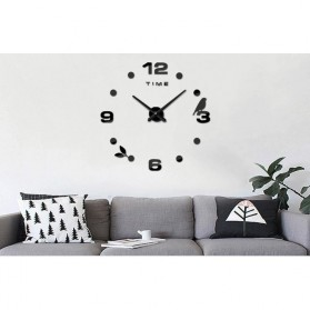 Jam Dinding DIY Giant Wall Clock Quartz Creative Design Model Burung - DIY-06 - Black