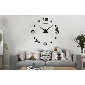 Jam Dinding DIY Giant Wall Clock Quartz Creative Design Model Burung - DIY-06 - Black - 2