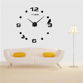 Jam Dinding DIY Giant Wall Clock Quartz Creative Design Model Burung - DIY-06 - Black - 3