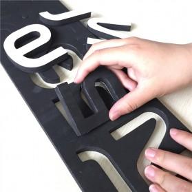 Jam Dinding DIY Giant Wall Clock Quartz Creative Design Model Burung - DIY-06 - Black - 4