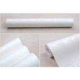 Wallpaper Dinding Glossy Modern European Style - White