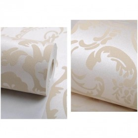 Wallpaper Dinding Glossy Modern European Style - Beige - 4