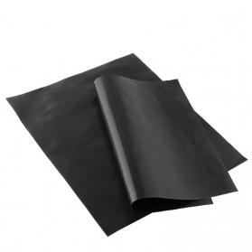 Kertas Lapisan Panggangan BBQ Grill Mat Reusable - Black