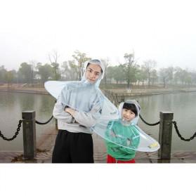 Topi Payung UFO Handsfree Umbrella Rain Cap Size M - Yellow - 5