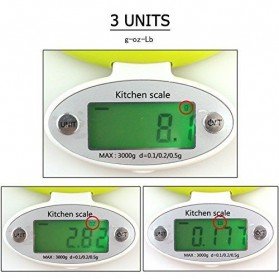 Taffware Digipounds Timbangan Digital Dapur Electronic Kitchen Scale 5kg 1g - CH-303 - Green - 2