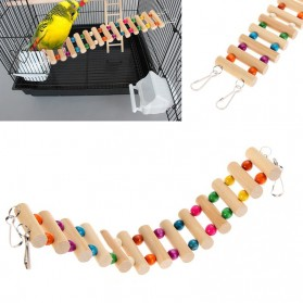Dekorasi Sangkar Burung Wooden Bridge - Mix Color - 5