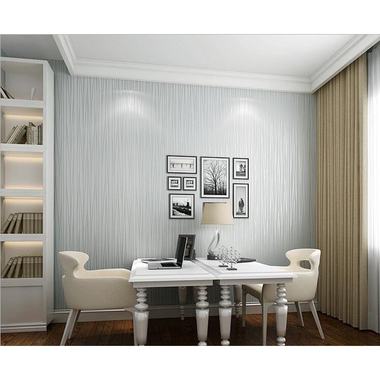 Wallpaper Dinding Modern Murals 0.53 x 9.5 Meter - Gray - 3 ...