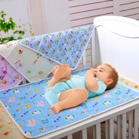 Matras Perlak Kasur Bayi Waterproof Newborn 43 x 34 cm - Blue
