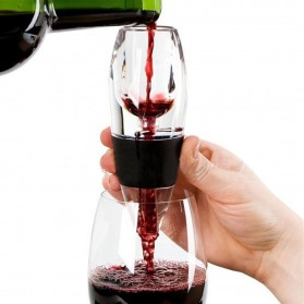 DUOLVQI Decanter Carafe Quick Aerator Gelas Wine - Transparent