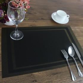 Alas Piring Meja Makan PVC 45 x 30 cm - Black Gold