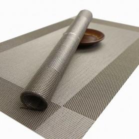 Alas Piring Meja Makan PVC 45 x 30 cm - Gray