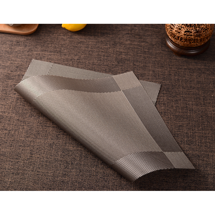 ... Alas Piring Meja Makan PVC 45 x 30 cm - Gray - 3 ...