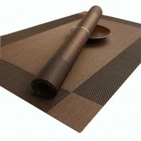 Alas Piring Meja Makan PVC 45 x 30 cm - Brown