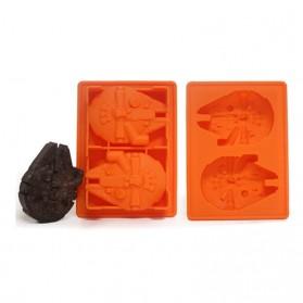 Cetakan Es Batu Model Star Wars Millennium Falcon - Orange - 2