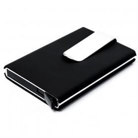 STORKFLY Dompet Holder Klip Kartu dan Uang Kertas -010021 - Black - 1