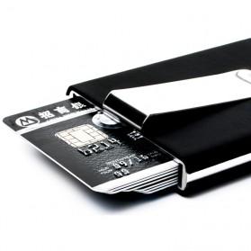 STORKFLY Dompet Holder Klip Kartu dan Uang Kertas -010021 - Black - 4