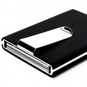 STORKFLY Dompet Holder Klip Kartu dan Uang Kertas -010021 - Black - 5
