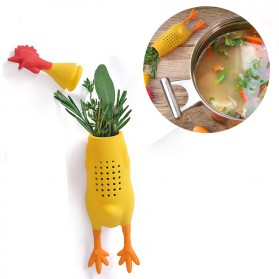 Saringan Infuser Container Ramuan Herbal Model Ayam - Yellow