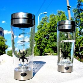 Botol Minum Protein Electric Shaker Portable Otomatis 450ml - 1505 - Transparent - 3