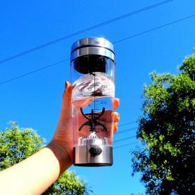 Botol Minum Protein Electric Shaker Portable Otomatis 450ml - 1505 - Transparent - 6