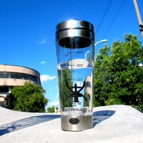 Botol Minum Protein Electric Shaker Portable Otomatis 450ml - 1505 - Transparent - 7