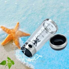 Botol Minum Protein Electric Shaker Portable Otomatis 450ml - 1505 - Transparent - 8