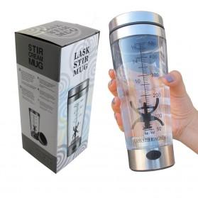 Botol Minum Protein Electric Shaker Portable Otomatis 450ml - 1505 - Transparent - 10
