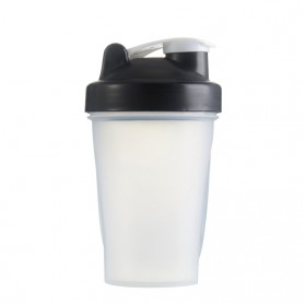 Botol Minum Whey Protein GYM Shaker 400ml - Black