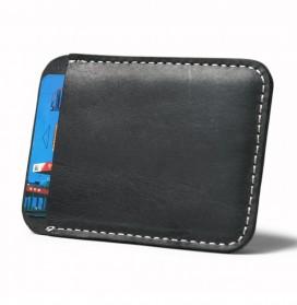 Xiniu Dompet Kartu dengan Money Clip / Besi Penjepit Uang - F23 - Coffee - 2