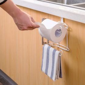 Holder Gantungan Tisu Toilet Multifungsi Model 2 Slot - White